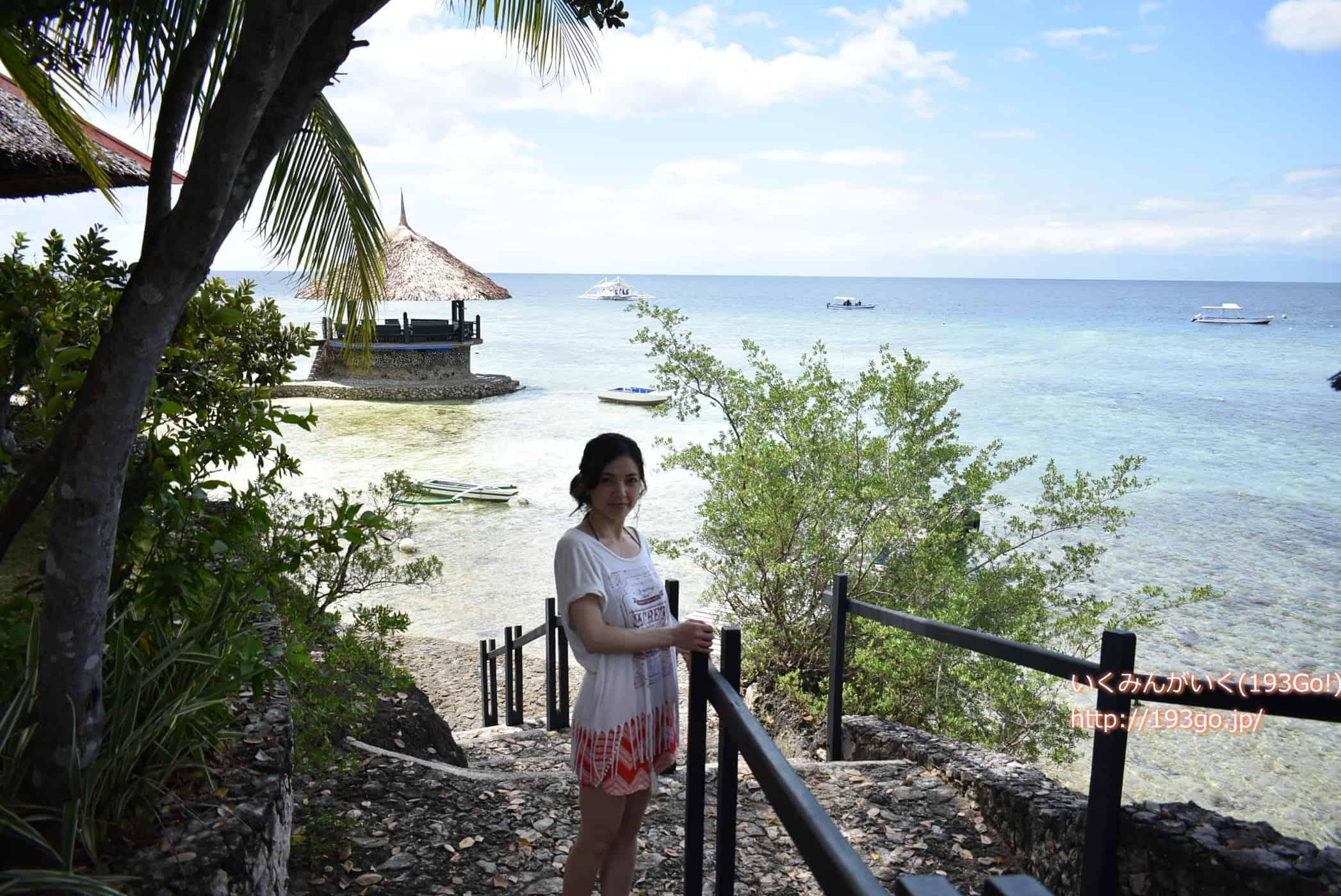 フィリピン セブ島南部へ!モアルボアル「ドルフィンハウス」にチェックイン!