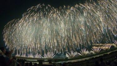 【新潟 長岡花火】2019 8/3 フェニックス15周年、正三尺玉3連発、この空の花、尺玉100連発【動画あり】