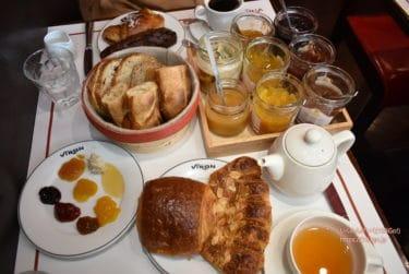 【渋谷、丸の内 パン】念願「VIRON(ヴィロン)」のモーニング!バスケットから選ぶ焼きたてパン&ジャムの種類が多い。バゲット食べ放題の丸の内ランチ