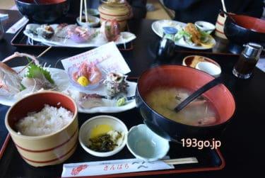 【新潟 温泉 グルメ】寺泊「きんぱちの湯」日本海一望!刺身御膳