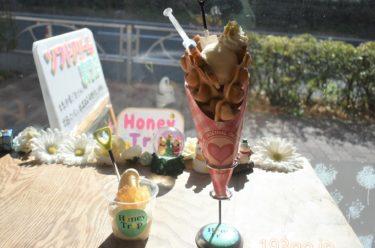【後楽園 スイーツ】「Honey Trip(ハニートリップ)」フォトジェニック!天然蜂の巣が乗ったオーガニックミルクソフト&ハート型エッグワッフル