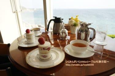 【神奈川 逗子・葉山】「葉山ホテル 音羽の森」でティータイム。眺めが良い!高台より海を一望