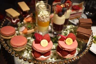 【ザ ストリングス表参道】2021年夏はピエールエルメのアフタヌーンティーが登場!果実の赤やピンク色マカロン、華やかなスイーツにワクワク