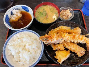 【大阪・なんば ランチ】「天ぷら大吉」店内はまるで浜辺!プリッと大海老天ぷらのボリュームセット